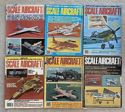 Lot Of 6 Scale Aircraft Modeler Magazine Vintage 1970's