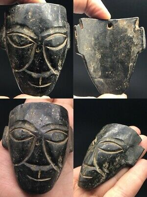 Scarce  Ancient Bactria Ere Jade Stone Idol Archaic Amulet 700 Bc #A309