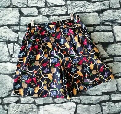 Vintage 90s scarf print chain novelty charm high waisted lizsport shorts S M