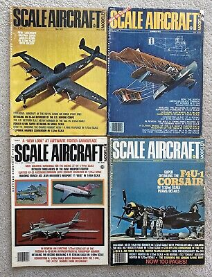 Lot Of 4 Vintage Scale Aircraft Modeler Magazine 1970's