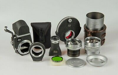 Leica Leitz 12.5cm Hektor Lens with Visoflex III, Filter Turret, Filters, Case