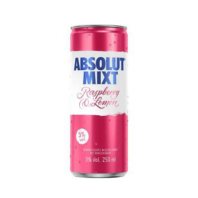 Absolut Mixt Raspberry & Lemon, 5%,  inkl. Euro 0,25 DPG Pfand/ Dose, 250 ml