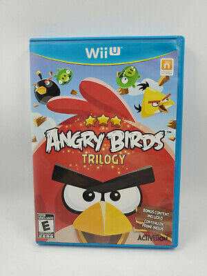Angry Birds Trilogy (Nintendo Wii U, 2013) CIB Complete, Great, Free shipping