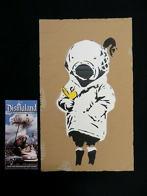 """Banksy Dismaland """"Space Girl"""" numbered RARE+Ticket"""