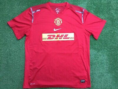Manchester United Nike Dhl Training Football Shirt Size Xl Adult