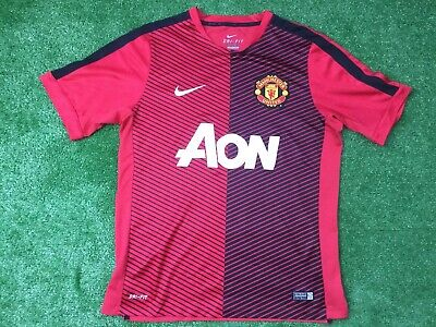 Manchester United Nike Training Football Shirt Size Large Adult