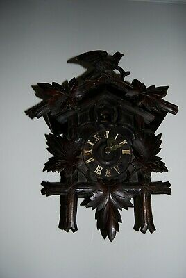 gorgeous large old cuckoo clock for repair or spares