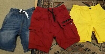 Next Aged 11 Years Boys 3 Pairs Of Shorts