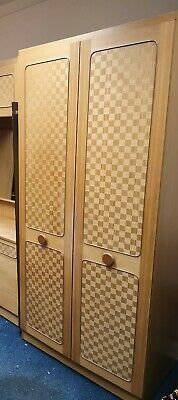 1960s Bedroom Wardrobe with mirror vintage retro
