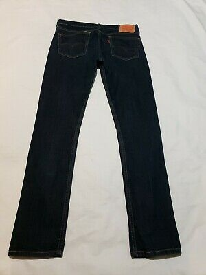 Levi's 510 Super Skinny Fit Blue Jeans Mens Actual Size 34 X 32 - M4470