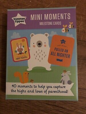 tommee tippee mini moments milestone cards NEW