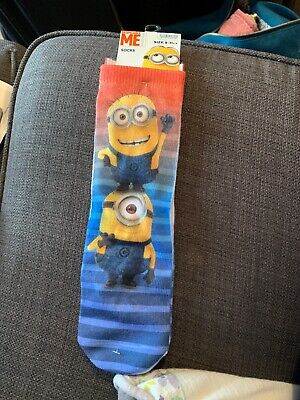 Illumination BNWT Despicable Me Unisex Childrens Socks Size 9-11 1/2