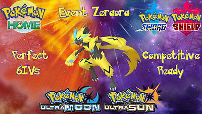 6IV Event Zeraora Guide Pokemon Ultra Sun Moon Home Sword Shield (FAST DELIVERY)