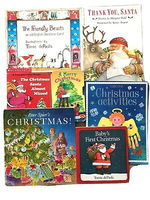 Lot of 7 Children's Christmas Picture Books Holiday