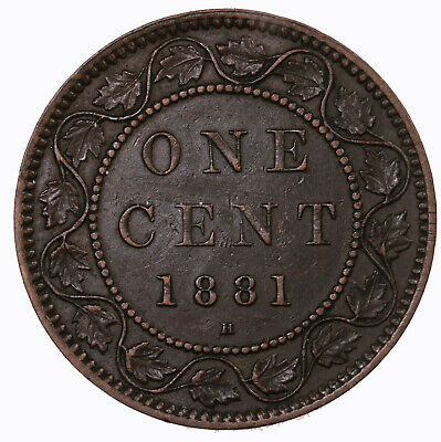 Raw 1881 H Canada 1C Uncertified Ungraded Canadian Large Cent Coin
