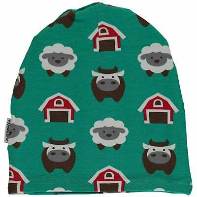 *NEW* Maxomorra - Farm Hat Organic Cotton Winter Hat - size 2 months