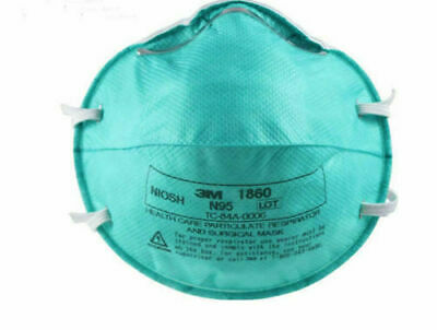 3M 1860 N95 REGULAR Health Care Particulate Mask lot of 20 FILTERS SARS
