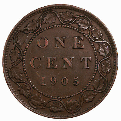 Raw 1905 Canada 1C Uncertified Ungraded Canadian Large Cent Coin