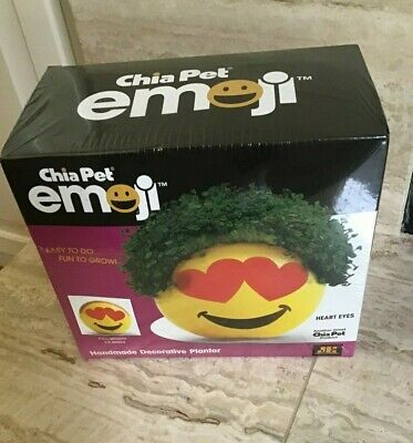 New In Box Chia Pet Emoji Heart Eyes