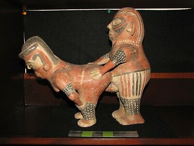 Pre Columbian, Tested, Pottery, Costa Rican, Nicoya, Stand Figures, E/L Classic