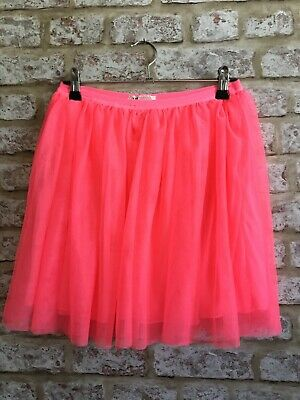 """H&M Neon Pink Tutu Age 12-14 Worn Once Also Fit Uk 8 26"""" Elasticated W"""