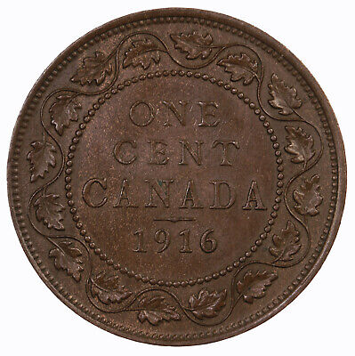 Raw 1916 Canada 1C Uncertified Ungraded Canadian Large Cent Coin