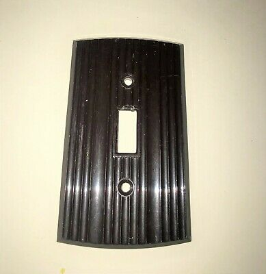 Vintage Art Deco Bakelite Eagle Switch Toggle Cover Plates brown