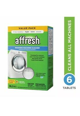 Affresh Washing Machine Cleaner, 6 Tablets, Cleans Front Load & Top Load Washers