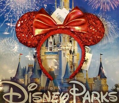 NEW Disney Parks Pirate Redd Red Sequin Minnie Mouse Ears Headband NWT