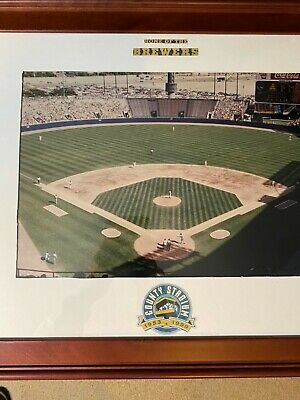 Brewers, Mid Century Milwaukee County Stadium Folding Redwood Benches Braves