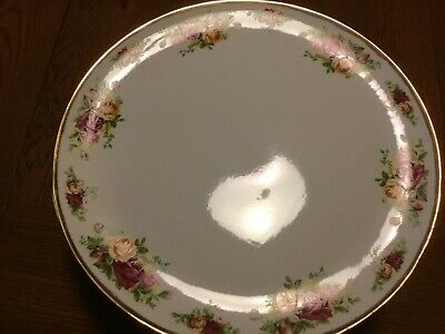 Cake Dessert Plate 12 inch Royal Albert Old Country Roses Bone China England