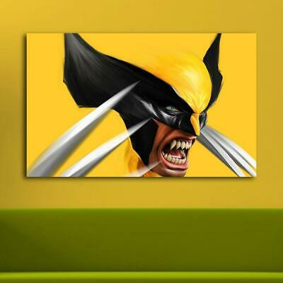 Wolverine Yellow Black HD Canvas print Painting Home decor Picture Room Wall art