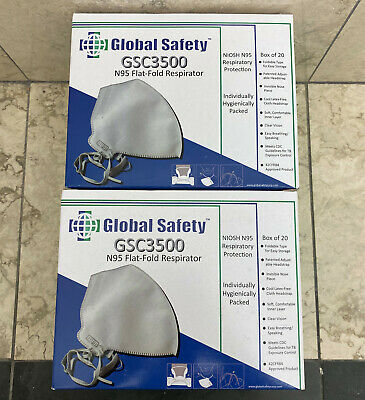 40 TOTAL CDC FDA APPROVED N95 Particulate Respirator Face Mask NIOSH APPROVED