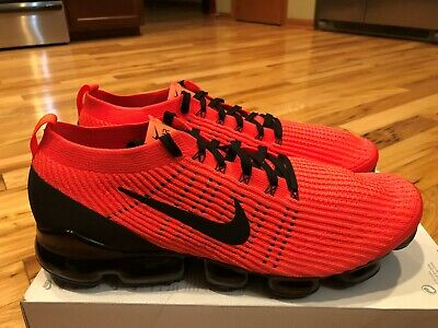 Nike Air Vapormax Flyknit 3 Flash Crimson Black AJ6900 608 Men's Size 15