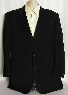 Canali Proposta Black 3 Button Wool Blazer Jacket Italy Mens 56L