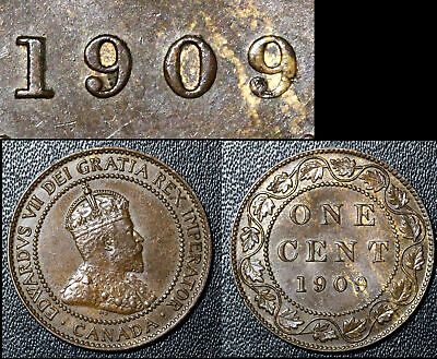 FEBRUARY SALE: Large Cent - 1909 Repunched 9/9 - VERY RARE AU (bg169)