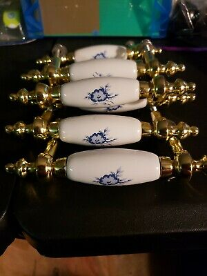 Richelieu Ivory And Gold Drawer Pulls or  Handles for Dressers, Cabinets