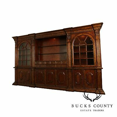 Philippe Langdon Monumental Architectural St. James Wall Unit Bookcase