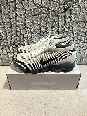 NEW Nike Air Vapormax Flyknit 3 Mens Size 10 Shoes AJ6900 105 White Black Oreo