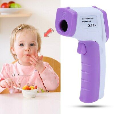 Baby/Adult Infrared Forehead LCD Digital Thermometer _color:purple