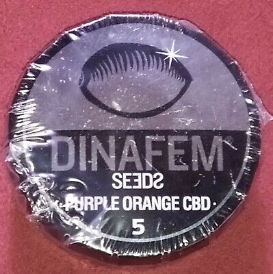5 Graines Féminisées de Purple Orange CBD Dinafem Seeds.