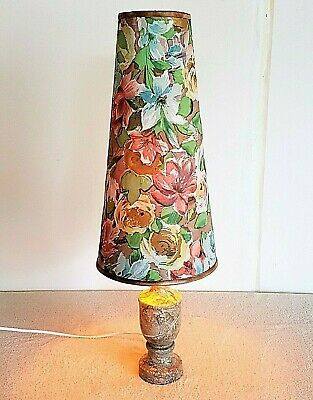Vintage Mid Century 1960s 70s Marble Conical Lamp Retro