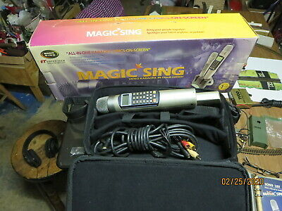 Magic Sing II Karaoke Microphone w/ case and manual. Great working condition
