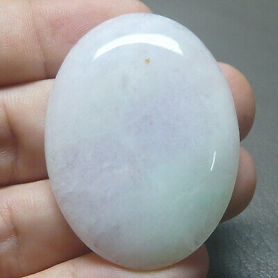 89.9 ct Genuine Jadeite Jade (Natural-Type A) Light Lavender-White Cabochon