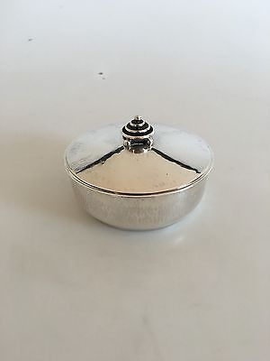 Hans Hansen Sterling Silver Art Deco Box with Lid from 1933