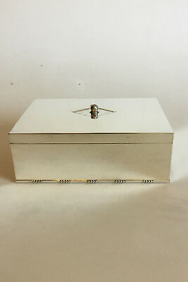 Georg Jensen Sterling Silver Cigar Box / Humidor No 329B