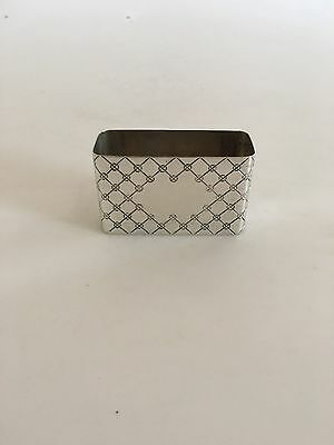 Hans Hansen Sterling Silver Toothpick Holder designed by Karl Gustav Hansen