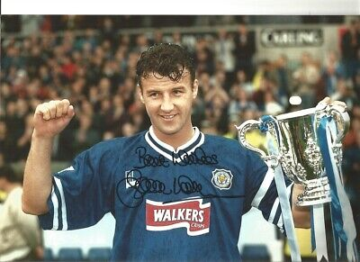 Steve Walsh Leicester City 12x8 inch hand signed authentic football photo SS254