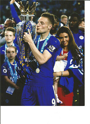 Jamie Vardy Leicester City 16x12 in hand signed authentic football photo SS242B