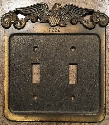 Vintage 1974 GE Light Switch Wall Plate w/ 1776 Eagle. Japan